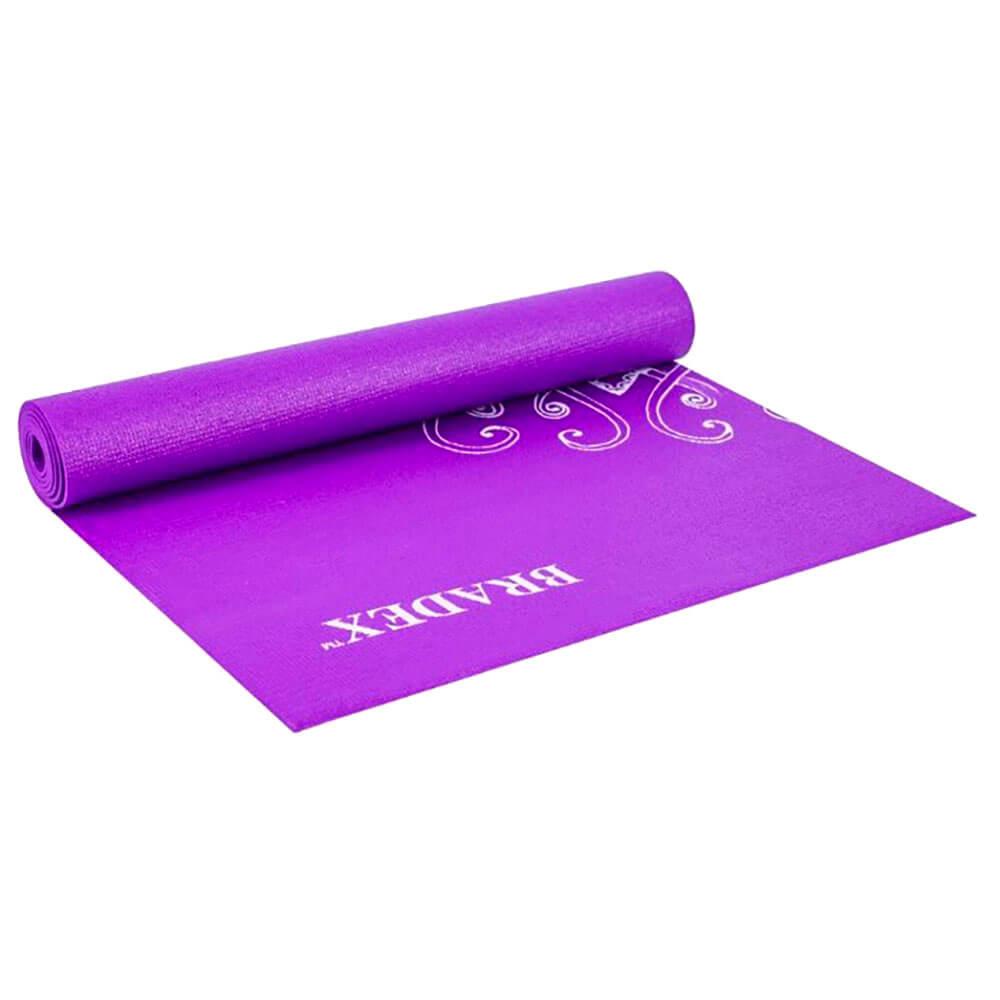 Коврик д/йоги 173х61 с рисунком виолет