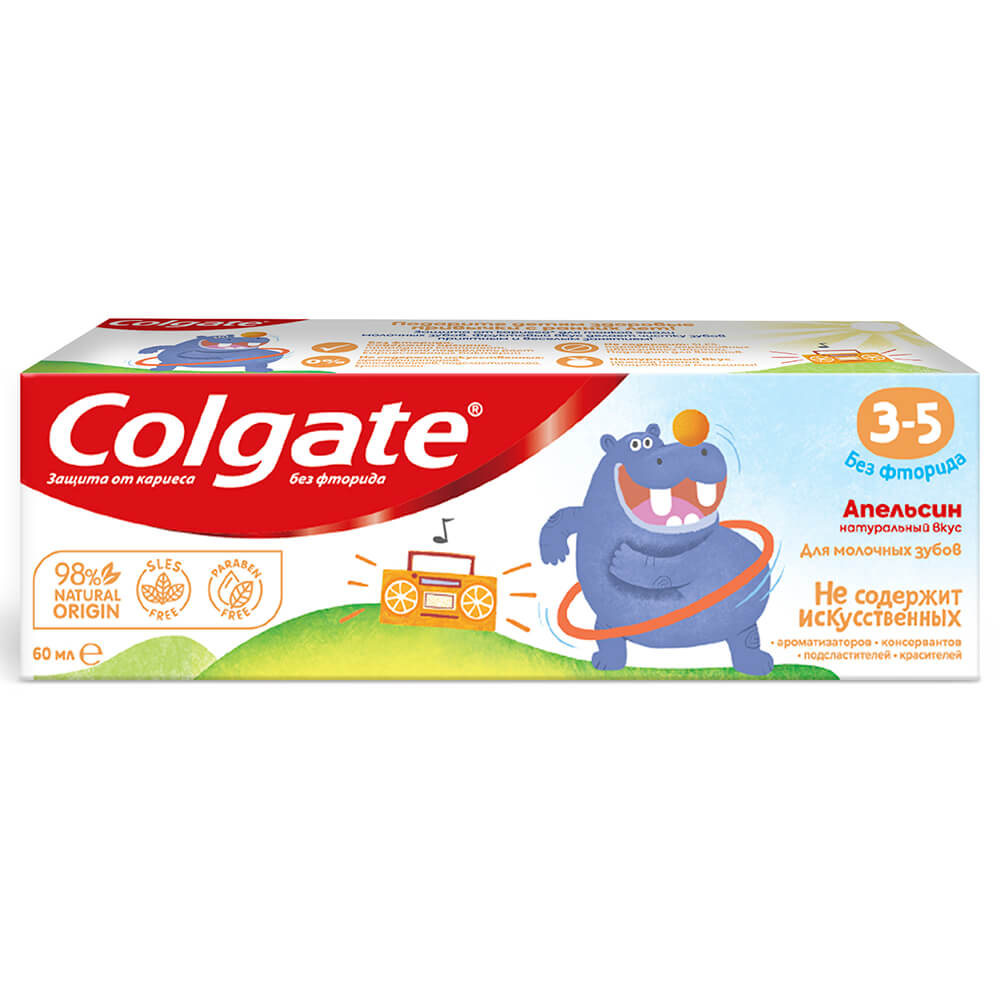 Зубная паста колгейт 60мл нежная мята 3-5лет
