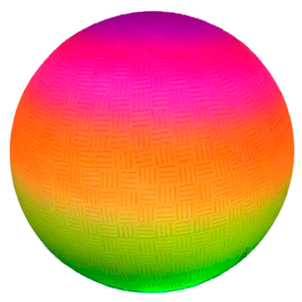 Мяч детский многоцвет радужный 22см 271399