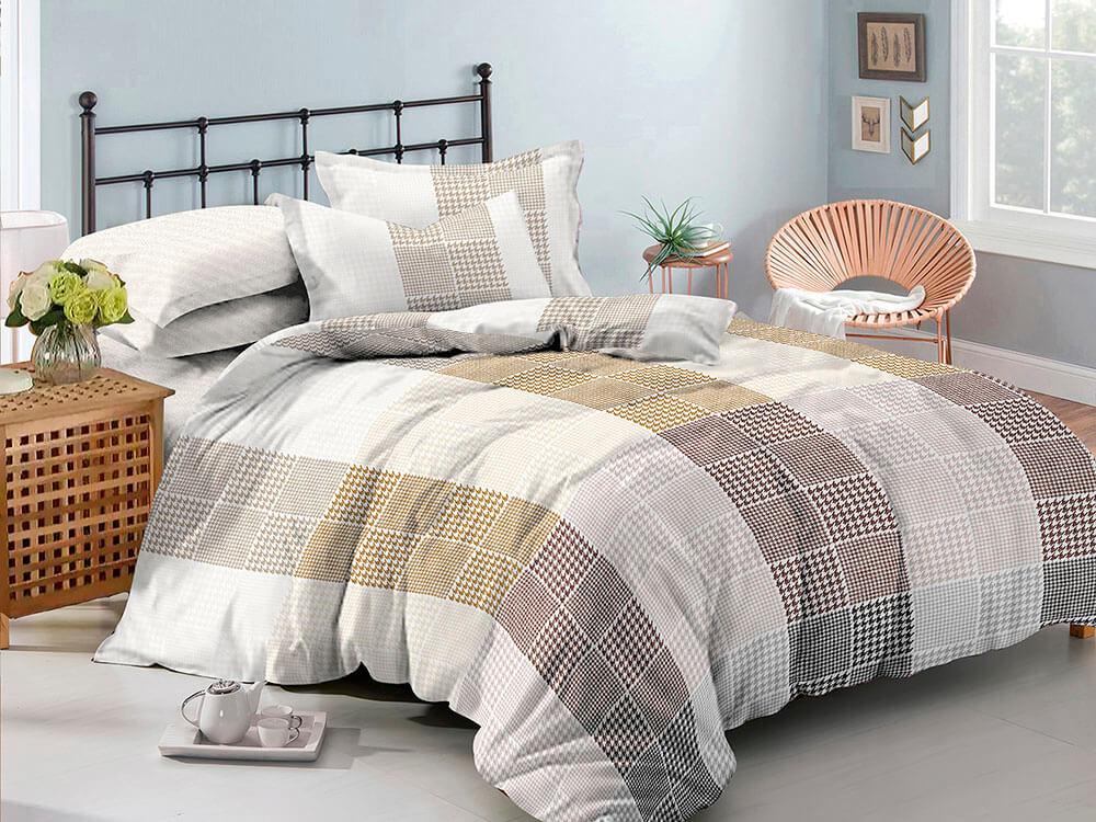Комплект постельного белья сатин пигмент Gold Amore Mio семейный размер арт 17525 комплект постельного белья двуспальный евро amore mio arthur кофейный