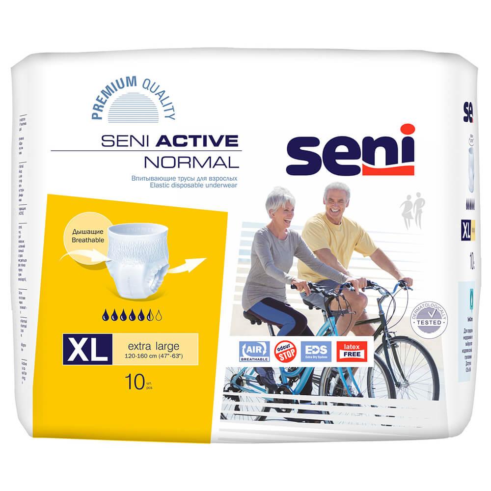 Подгузники - трусы для взрослых Seni Active Normal  10шт экстра лардж xl
