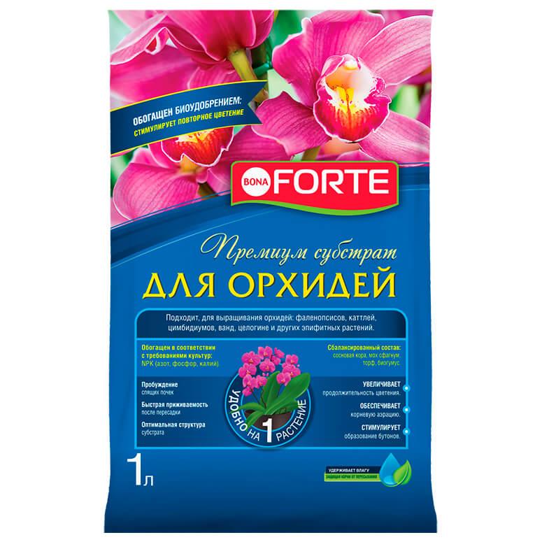Субстрат для орхидей 1л бона форте