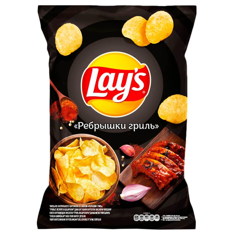 Фото - Чипсы Lays 150г ребрышки гриль чипсы lays вкус васаби и авокадо 90г