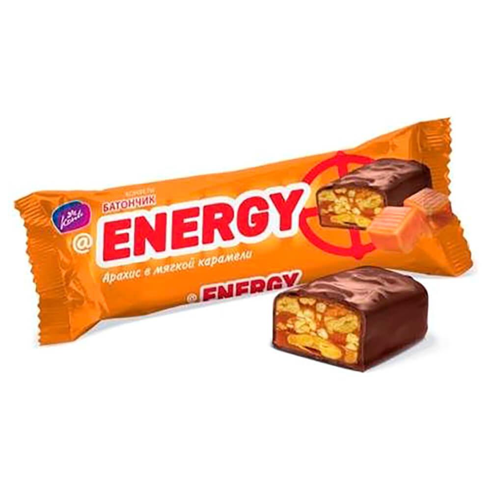 Батончик Energy 40г арахис в мягкой карамели недорого