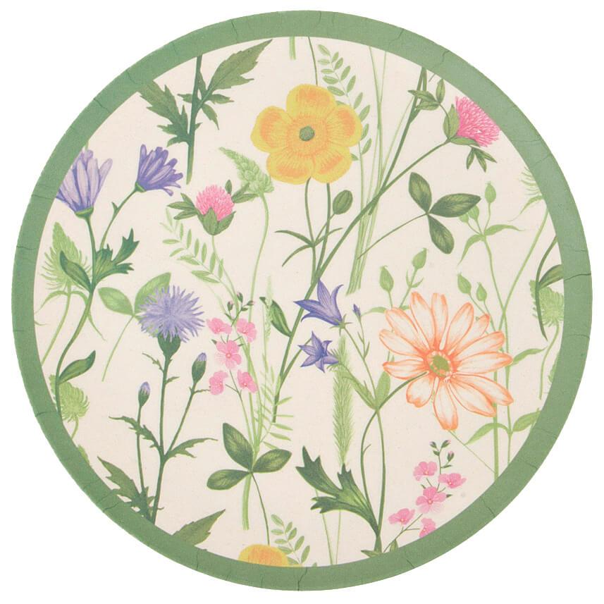 Блюдо сервировочное 20см Best Home Kitchen луговые цветы бамбук 4942147