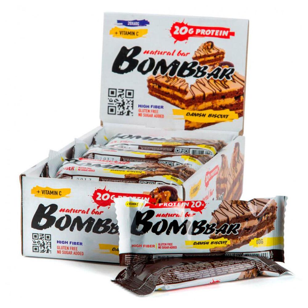Батончик протеиновый Bombbar 60г датский бисквит батончик протеиновый bombbar датский бисквит 60 г