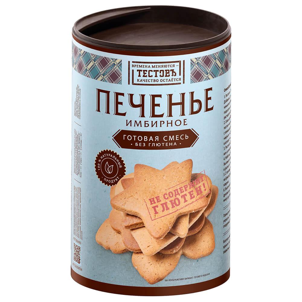 Фото - Смесь мучная тестовъ 400 г имбирное печенье без глютена с пудовъ мучная смесь печенье имбирное с цукатами 0 4 кг