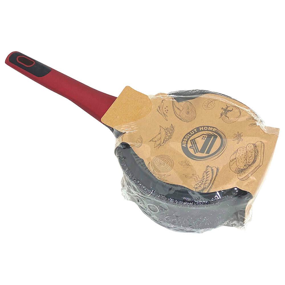 Ковш 1,4л Absolut Home красная силиконовая ручка крышка стекло yl4016