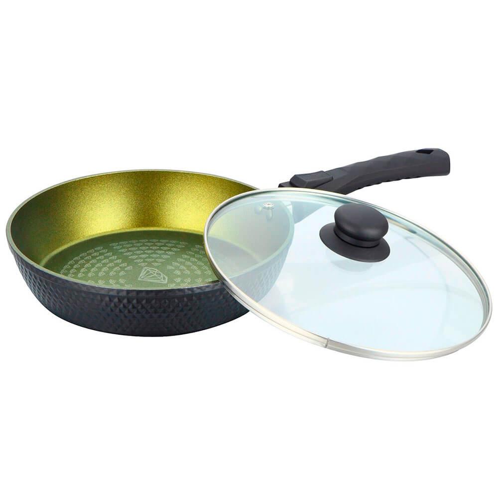 Сковорода 28см BEKKER Emerald съемная ручка крышка bk-3787