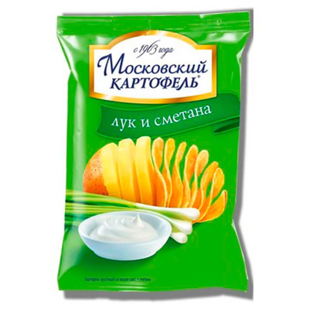 Чипсы Московский картофель 70г с луком и сметаной
