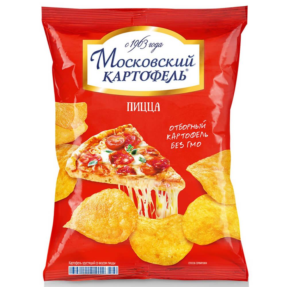 Чипсы Московский картофель 60 г со вкусом пиццы
