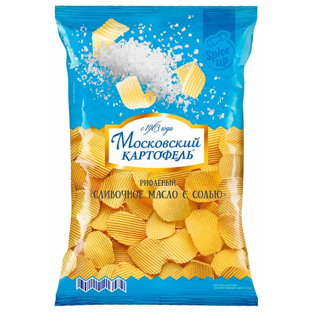 Чипсы Московский картофель 150 г сливочное масло с солью