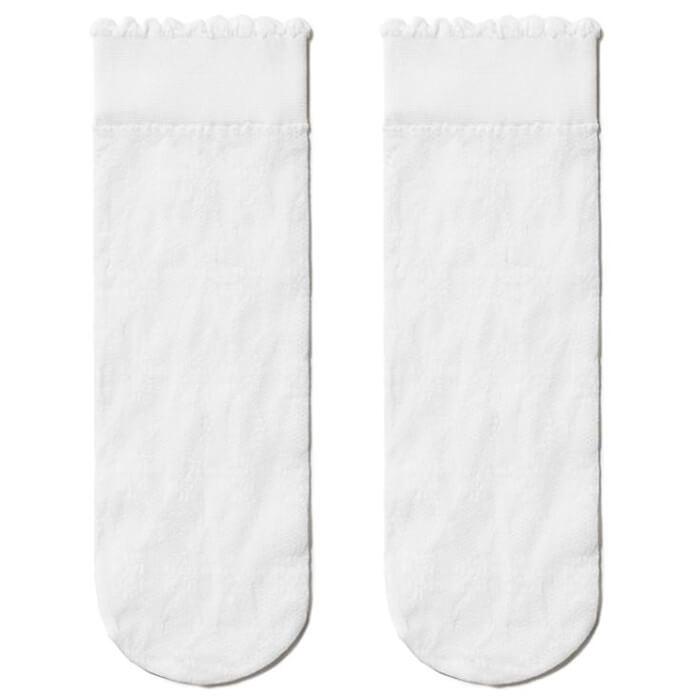 Носки для девочек Conte FIORI р.20-22 бьянко нарядные 16с-53сп фото