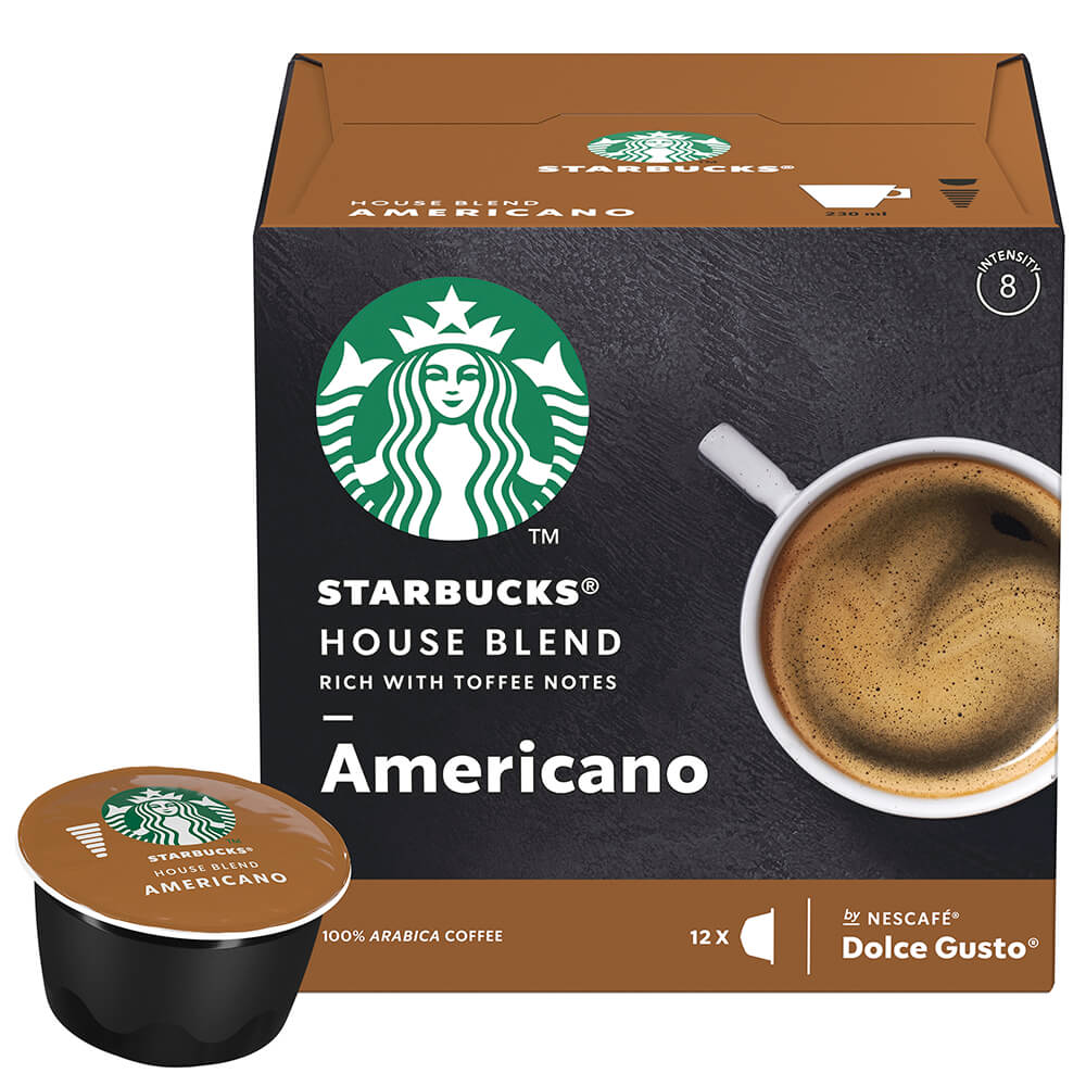 Кофе Starbucks 12 капсул Americano Dolce Gusto