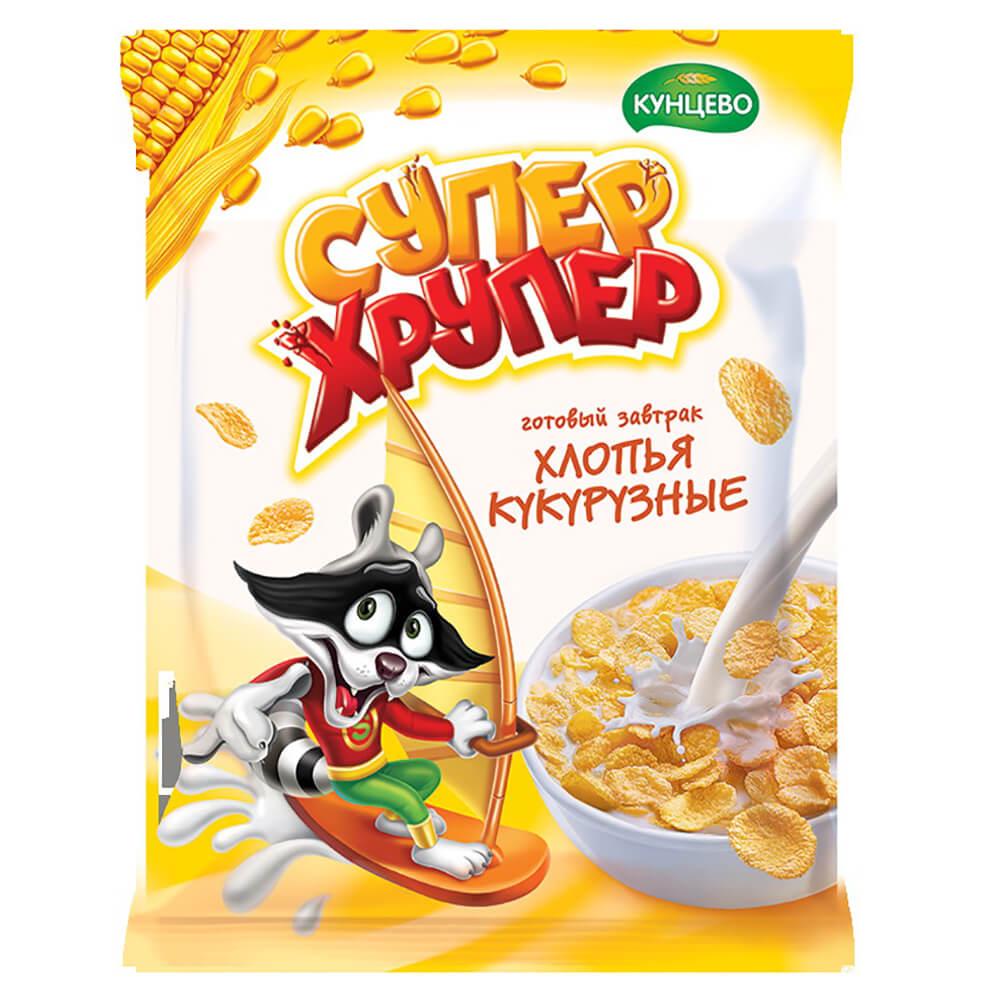 Хлопья кукурузные Super хрупер 60г кунцево пакет