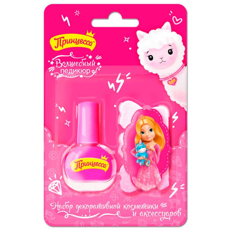 Набор подарочный принцесса волшебный педикюр лак д/ногтей+пилочка д/ногтей+разделитель д/п