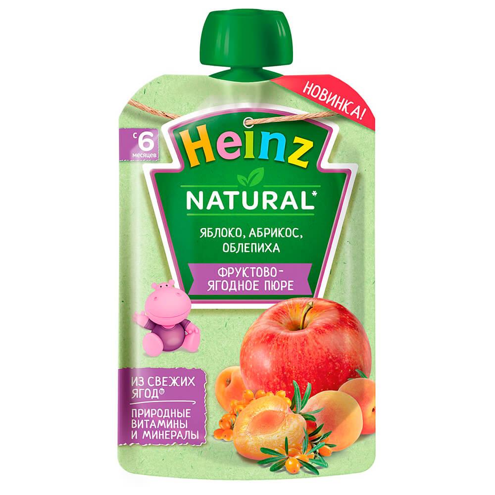 Пюре Heinz 90г яблоко абрикос облепиха с 6 месяцев дой-пак