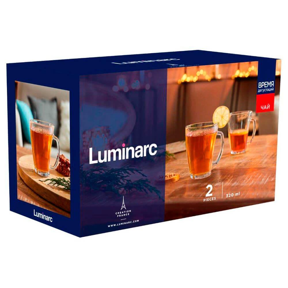Набор кружек 2шт 320мл Luminarc время дегустаций чай q2842 набор кружек luminarc дисней микки колорс 6шт 250мл