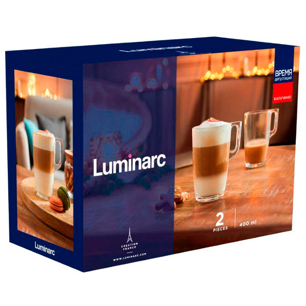 Набор кружек 2шт 400мл Luminarc время дегустаций капучино q2843 набор кружек luminarc дисней микки колорс 6шт 250мл