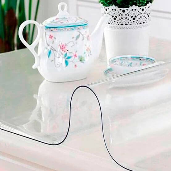 Клеенка силиконовая прозрачная декорелле 1,2*20м