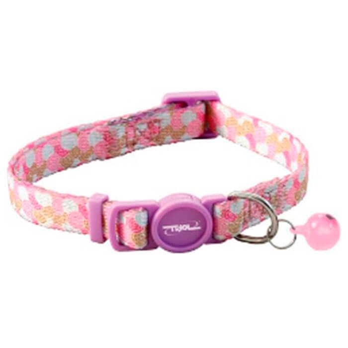 Фото - Ошейник для кошек Triol нейлоновый 10*210-330мм розовый 21261008 банда пушистых модников новый год