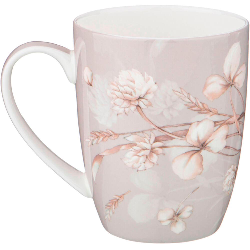 Кружка 420мл Lefard белые цветы фарфор 415-2122