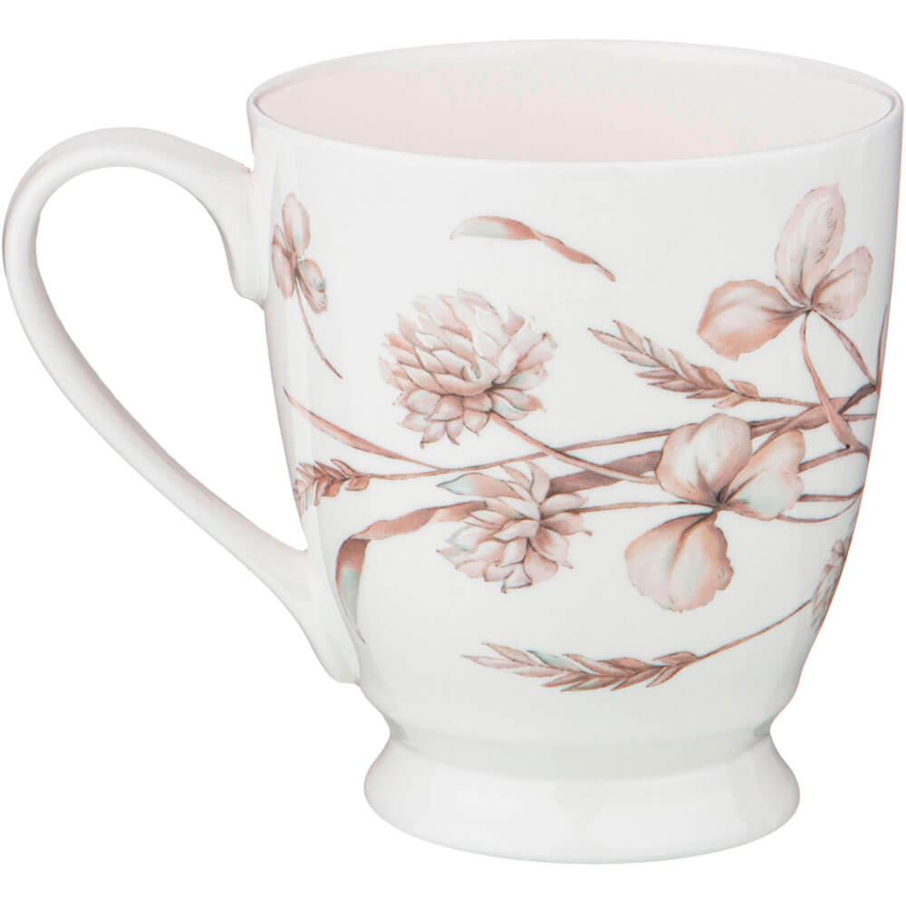 Кружка 480мл Lefard белые цветы фарфор 415-2124