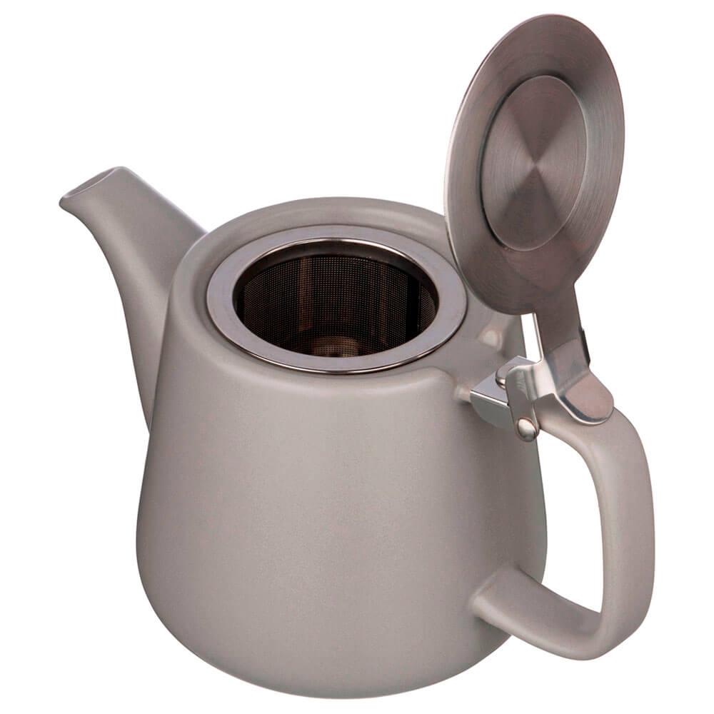 Чайник заварочный 500мл Lefard велюр серый металлическое ситечко 470-571