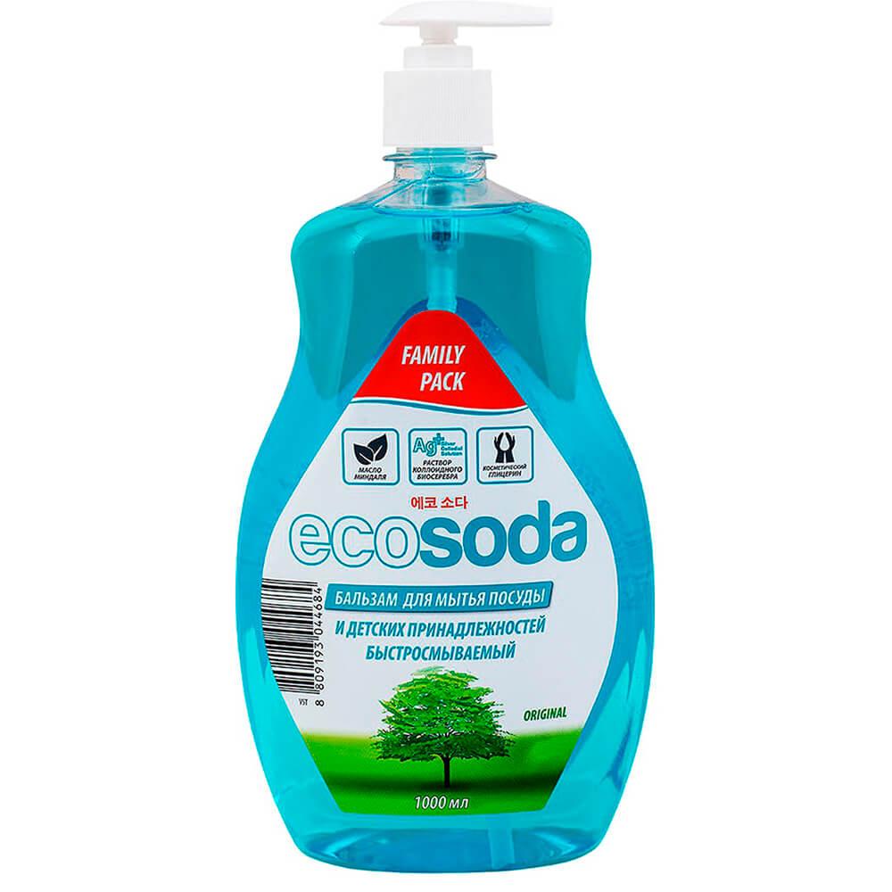 Фото - Средство для мытья посуды EcoSoda 1л бальзам быстросмываемый средство для мытья посуды ecosoda 1л бальзам быстросмываемый
