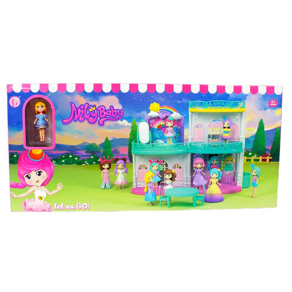 Домик для кукол с куклой и аксессуарами 56х26х7см c23514/a1330582w