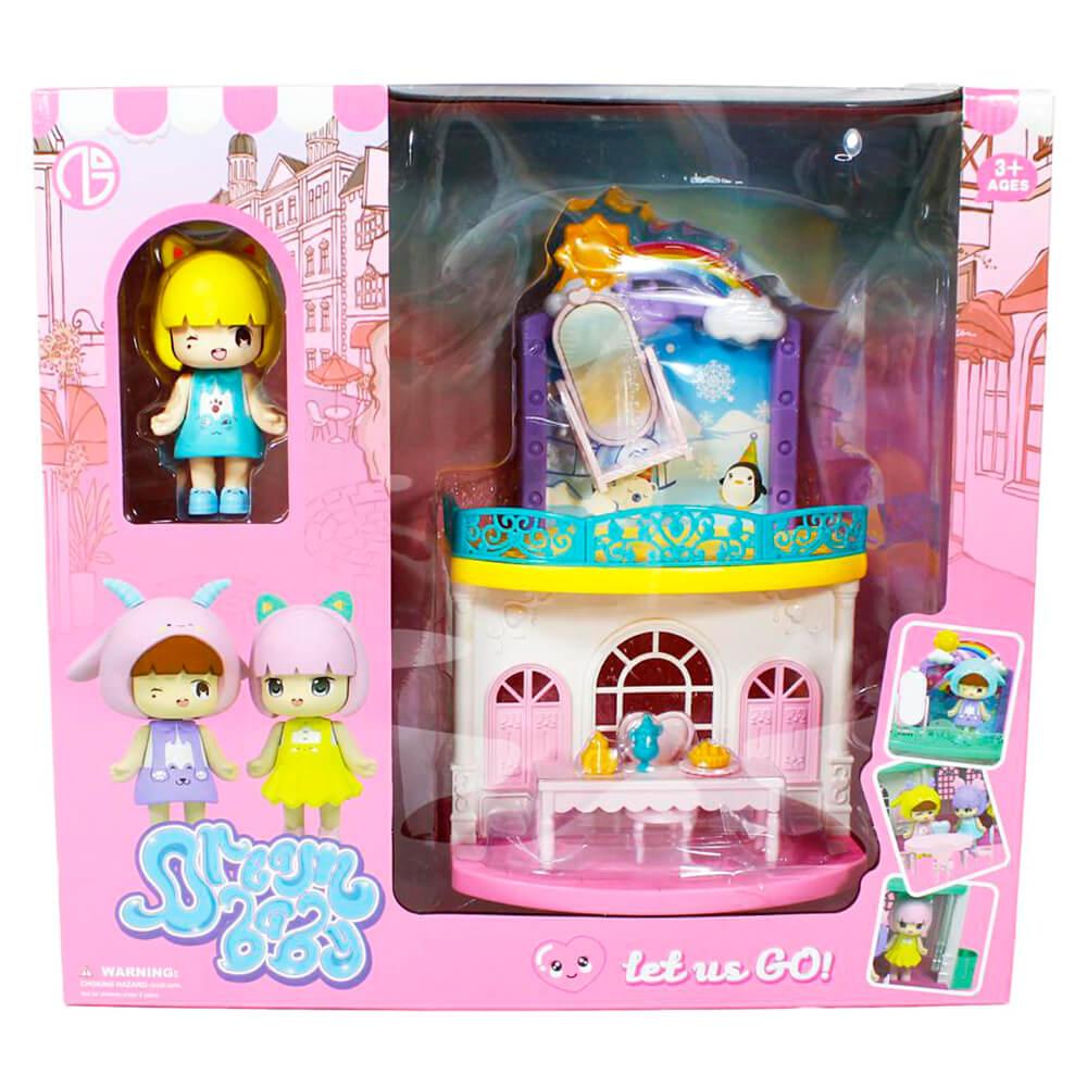 Домик для кукол с куклами 2шт и аксессуарами 33х31х11,8см c23514/a1330594w