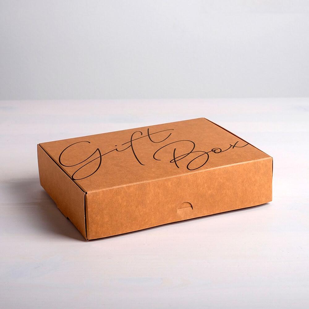 Коробка складная Дарите счастье крафтовая гифт бокс 21*15*5см 4789094