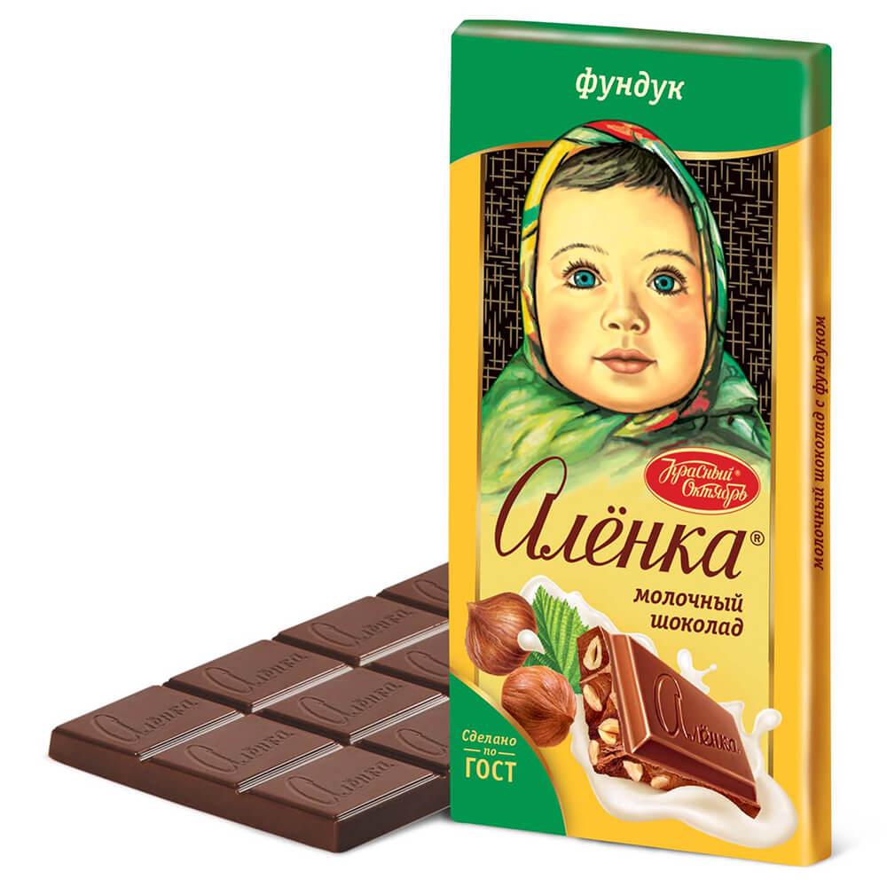 Фото - Шоколад Аленка 90г молочный с фундуком Красный Октябрь шоколад dove 90г молочный с цельным фундуком одинцовская кф