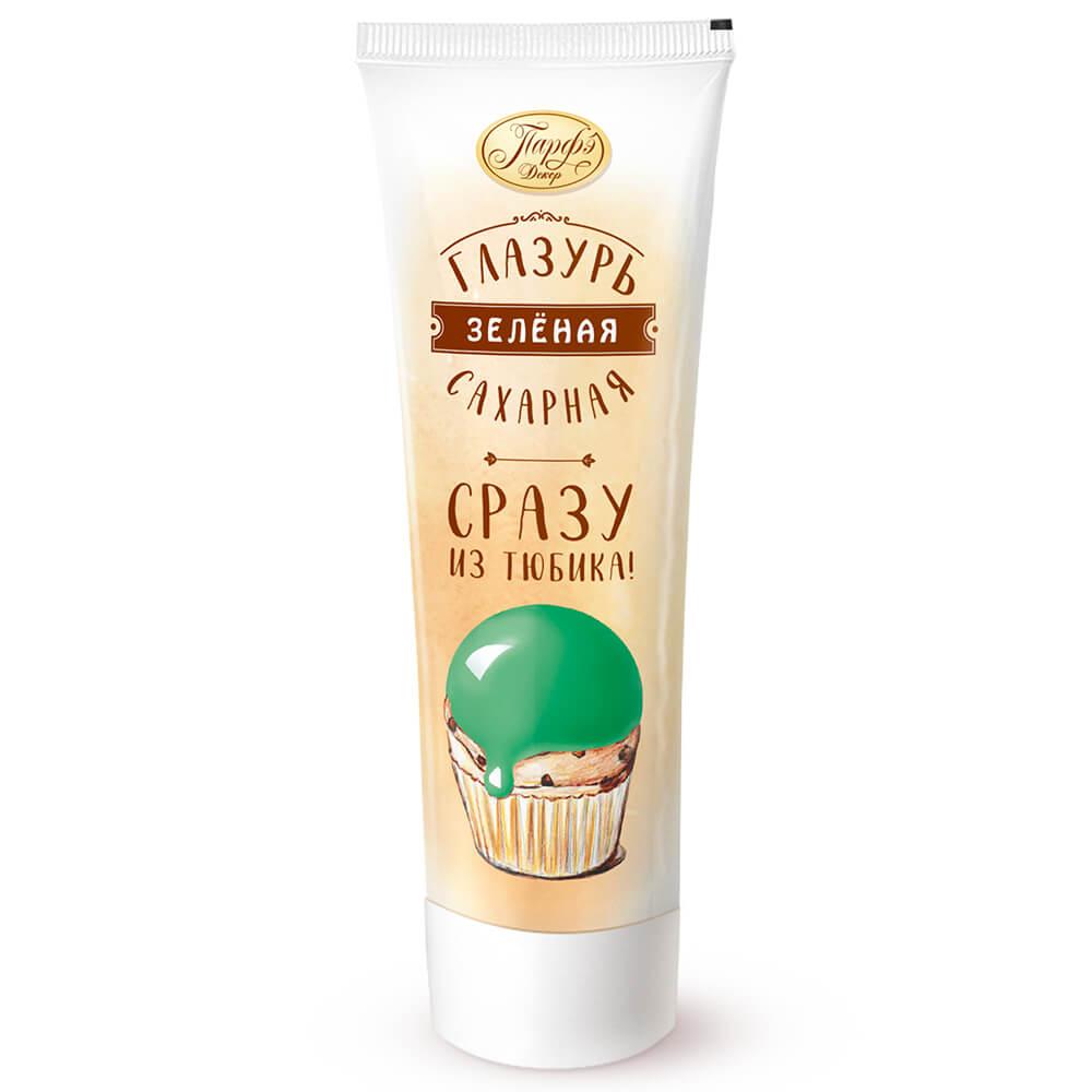 Фото - Помадка сахарная Парфэ 120г зеленая туба сахарная глазурь парфэ белая 120 г