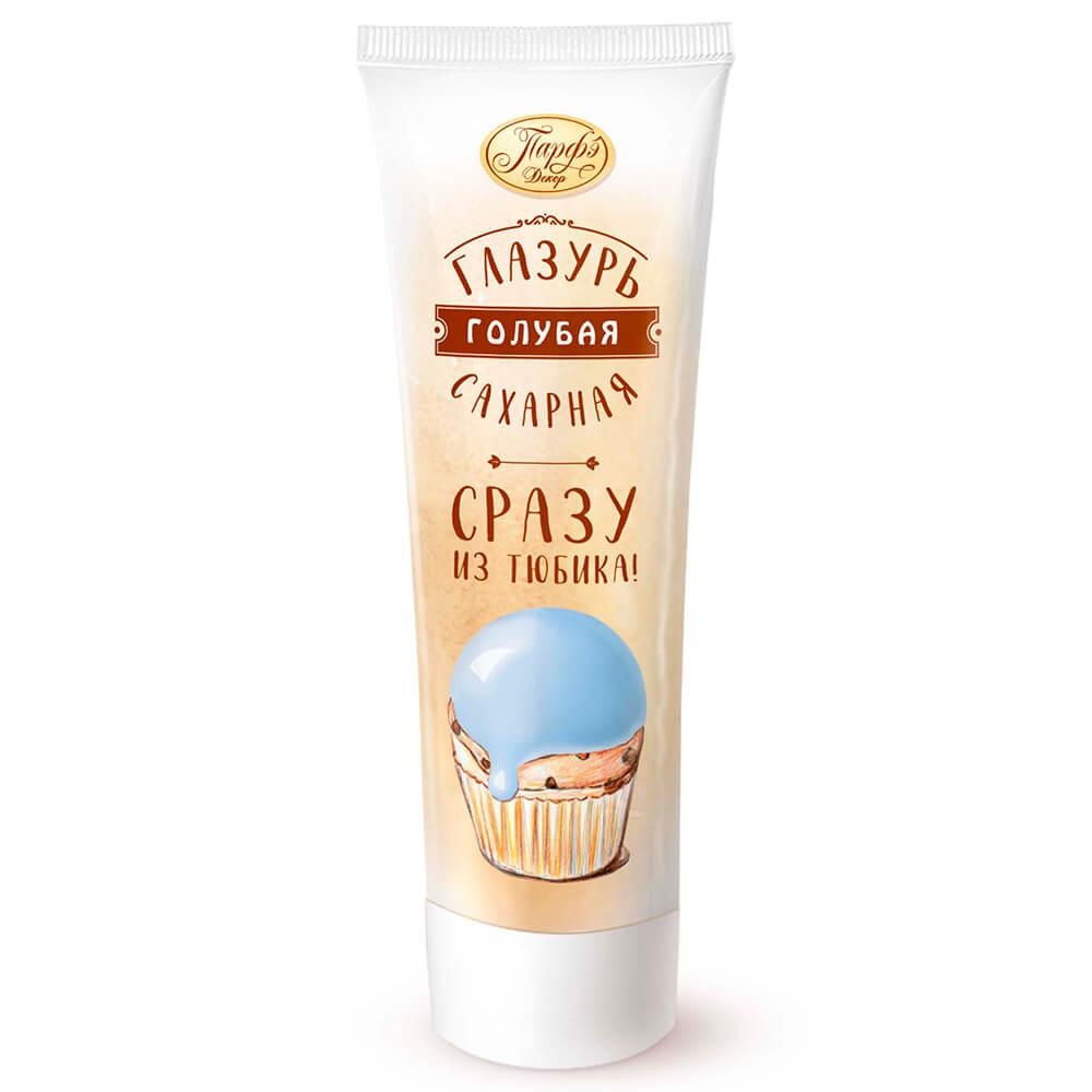 Фото - Помадка сахарная Парфэ 120г голубая туба сахарная глазурь парфэ белая 120 г