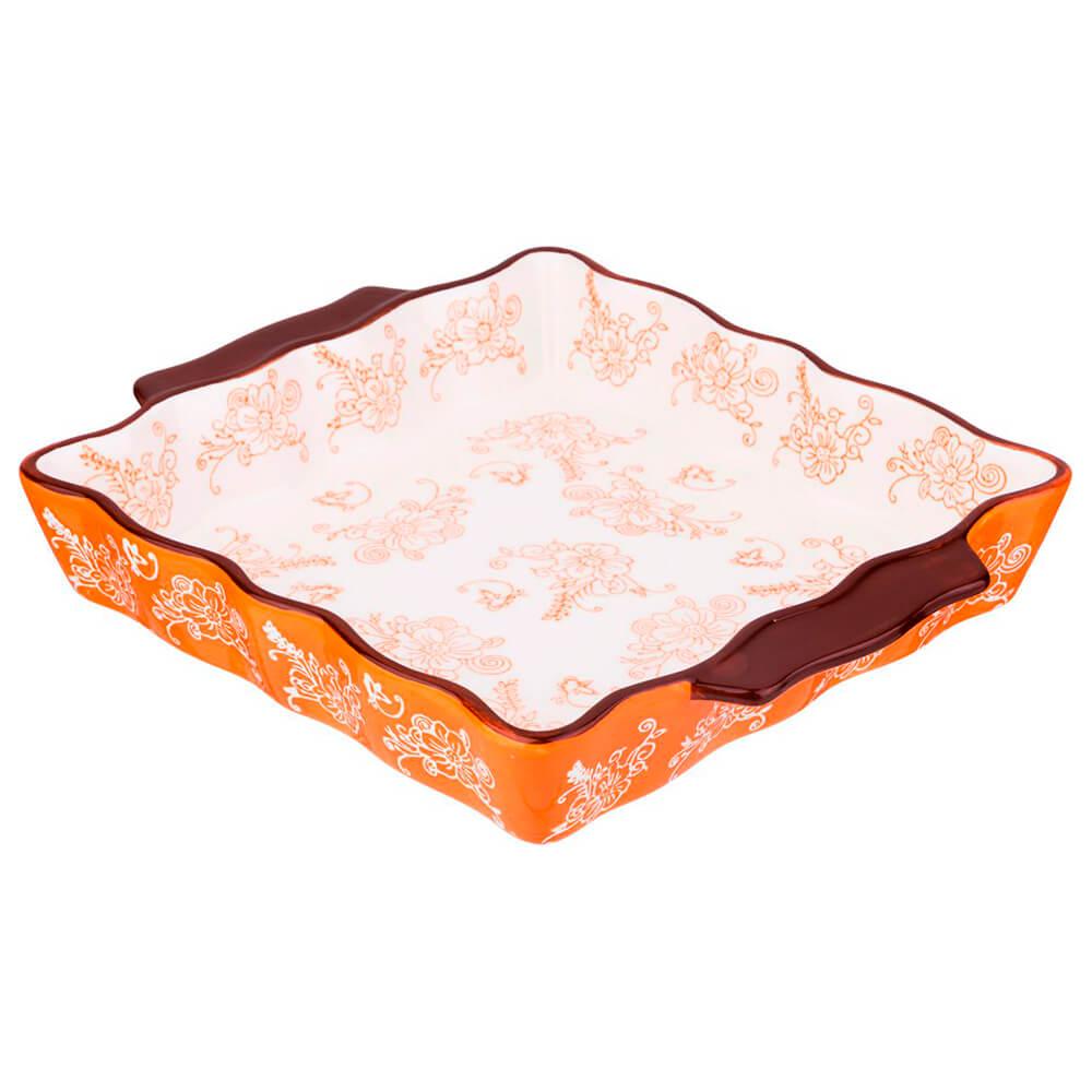 Блюдо для запекания 30*24*5см Agness прямоугольное керамика 536-186