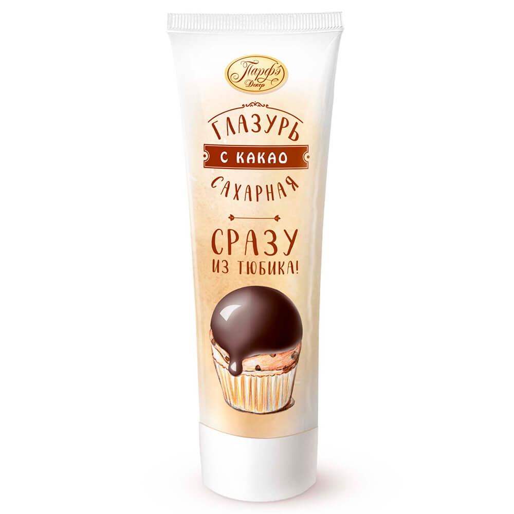 Фото - Помадка сахарная Парфэ 120г с какао туба сахарная глазурь парфэ белая 120 г