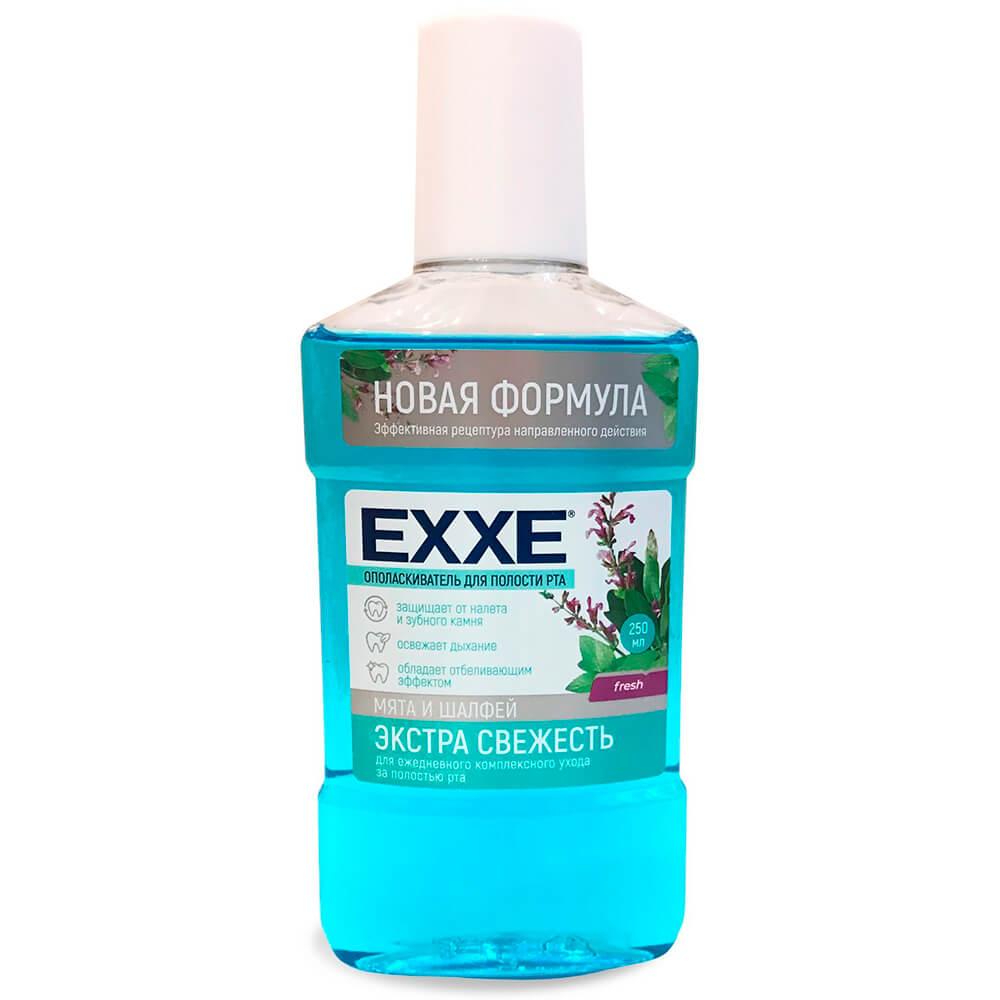 Ополаскиватель для полости рта EXXE 250мл экстра свежесть мята и шалфей