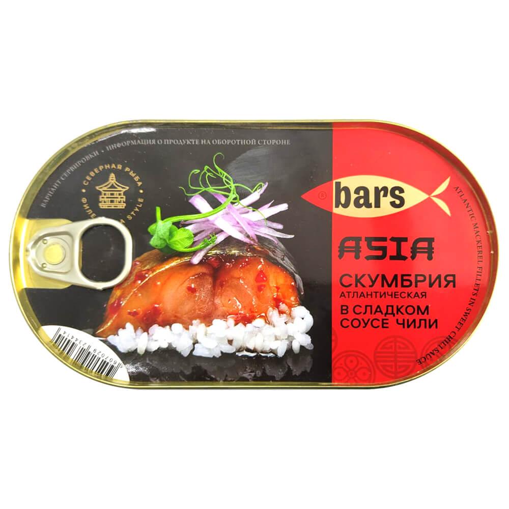 Скумбрия Барс 175г чили в сладком соусе ханса ж/б ключ недорого