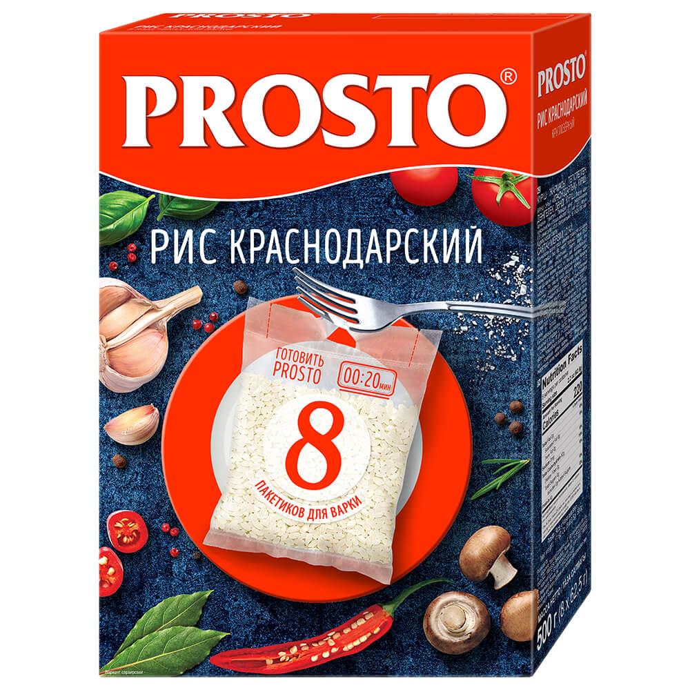 Крупа рис Prosto 8пак*62,5г краснодарский