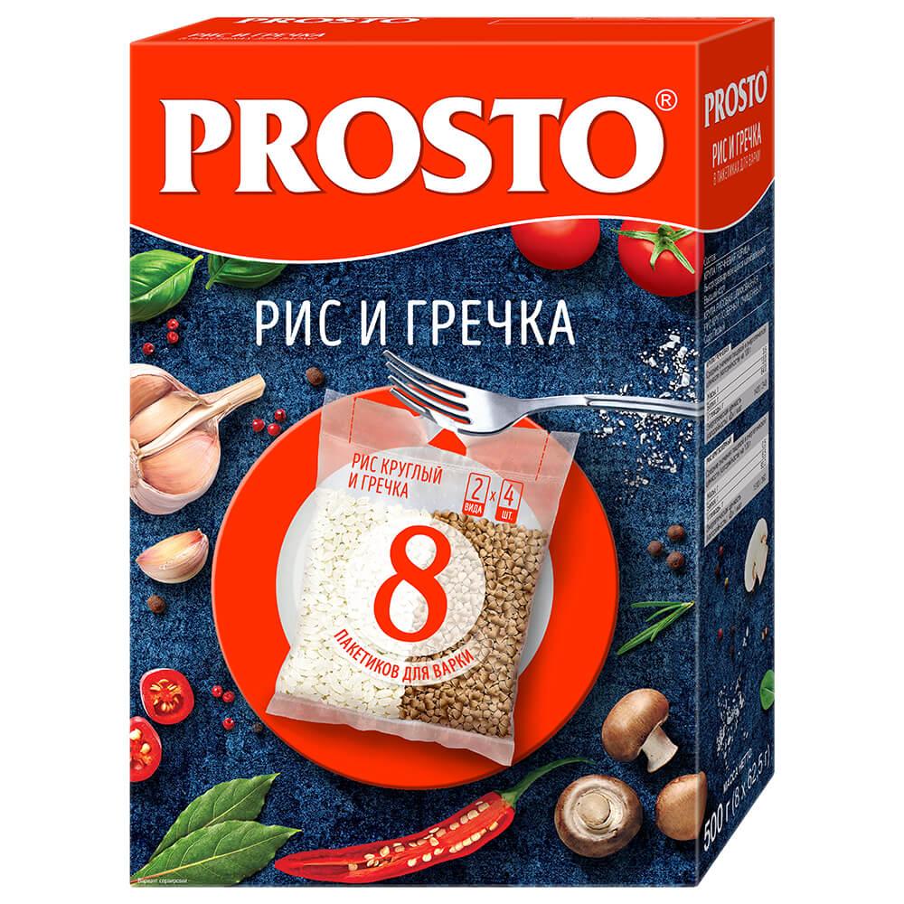 Крупа рис+гречневая Prosto 8пак*62,5г