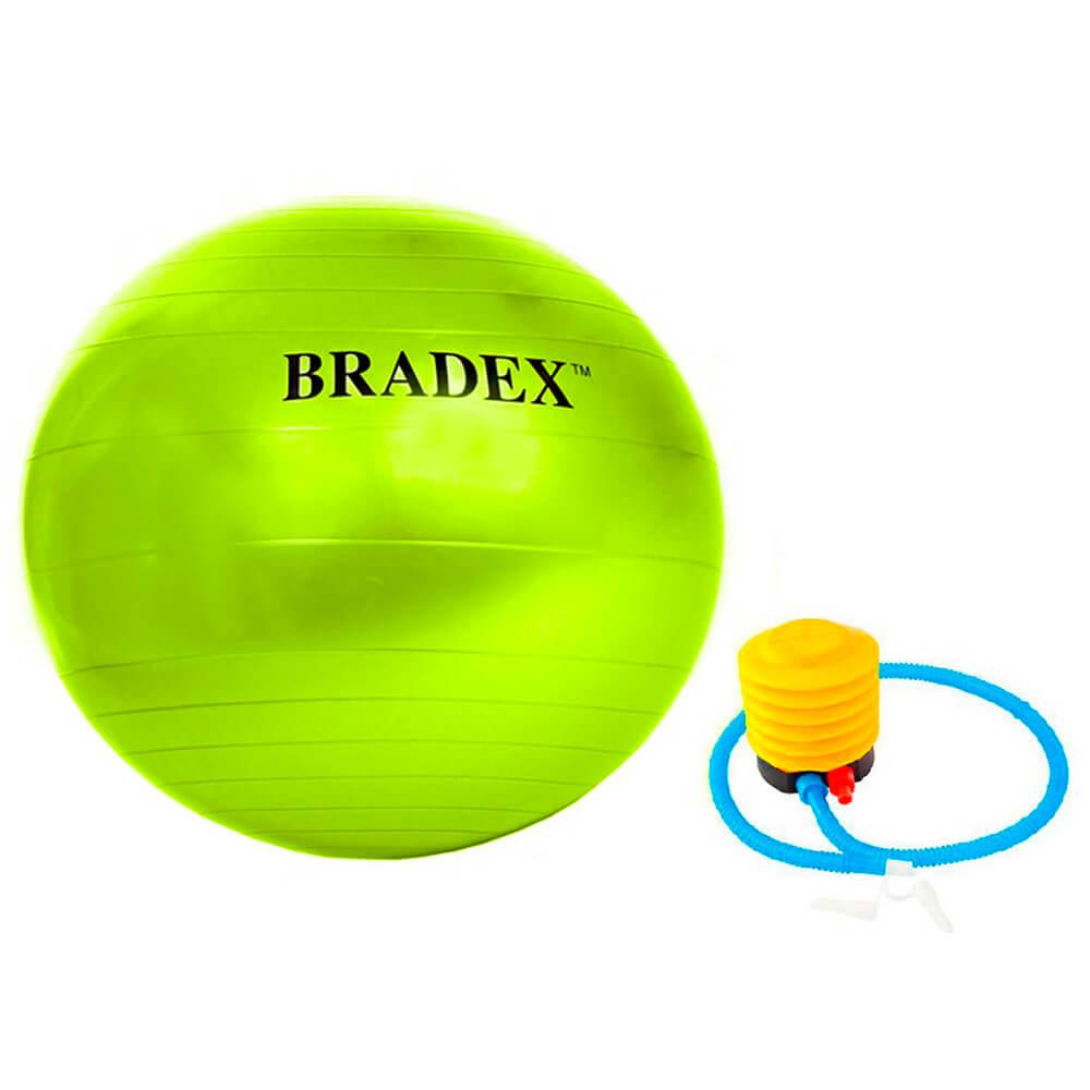 Фото - Мяч для фитнеса фитбол-75 Bradex с насосом салатовый sf 0721 мяч для фитнеса bradex фитбол 75 с насосом sf 0187