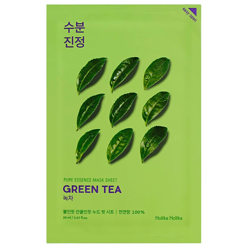 Маска для лица Holika 20мл пьюр эссенс тканевая противовоспалительная с экстрактом зеленого чая