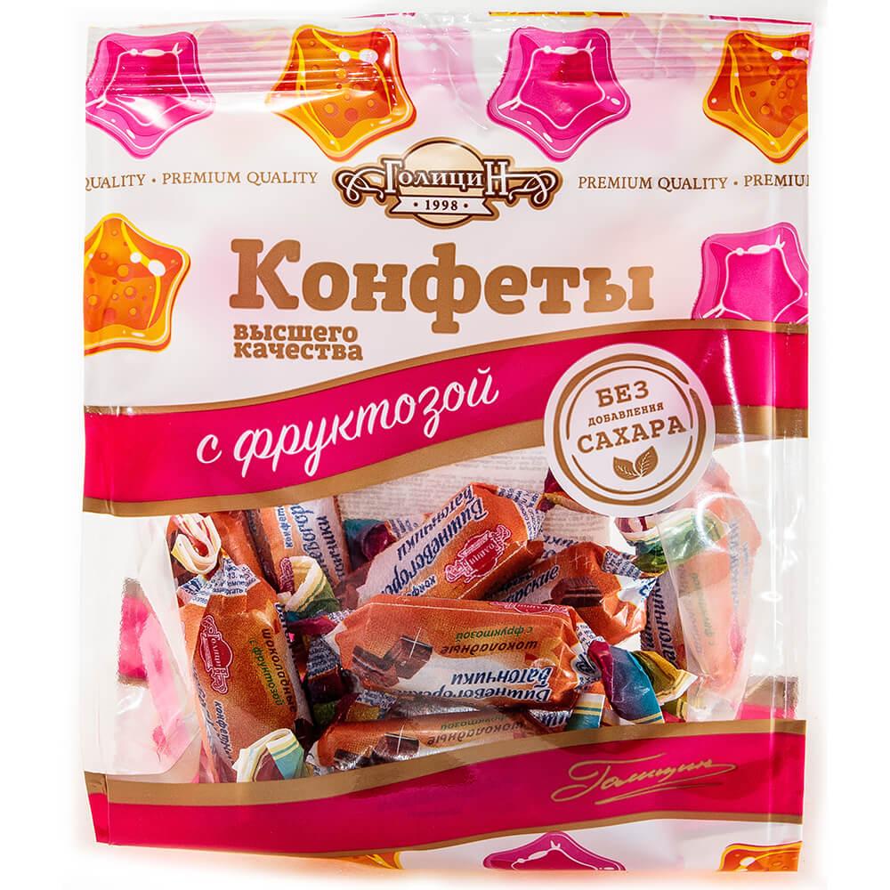 Конфеты батончики шоколадные на фруктозе 160г тм Голицин