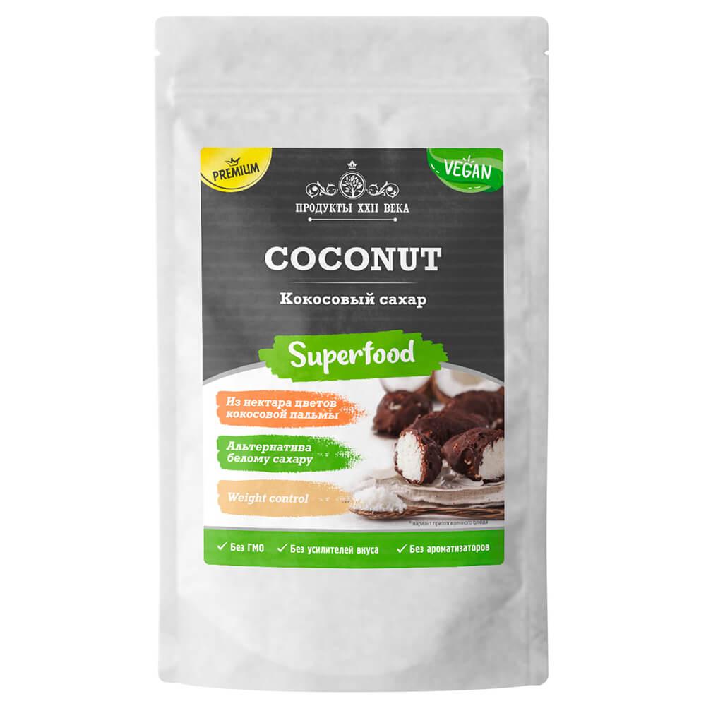 Сахар продукты XXII века 100г кокосовый премиум