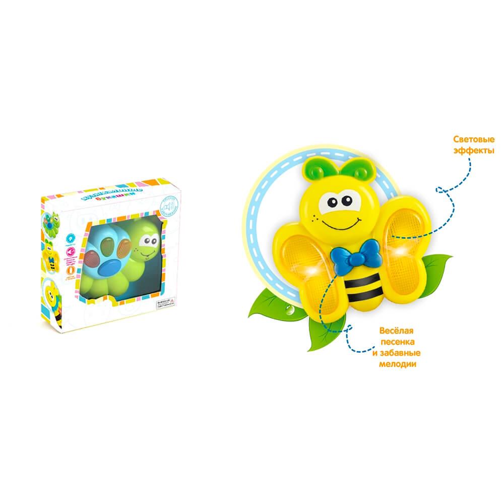 Игрушка развивающая Зоря пчёлка детские песенки и забавные мелодии подсветка на батарейках zy208306