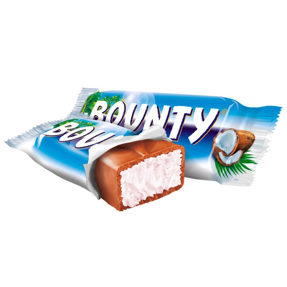 Шоколадные батончики баунти минис