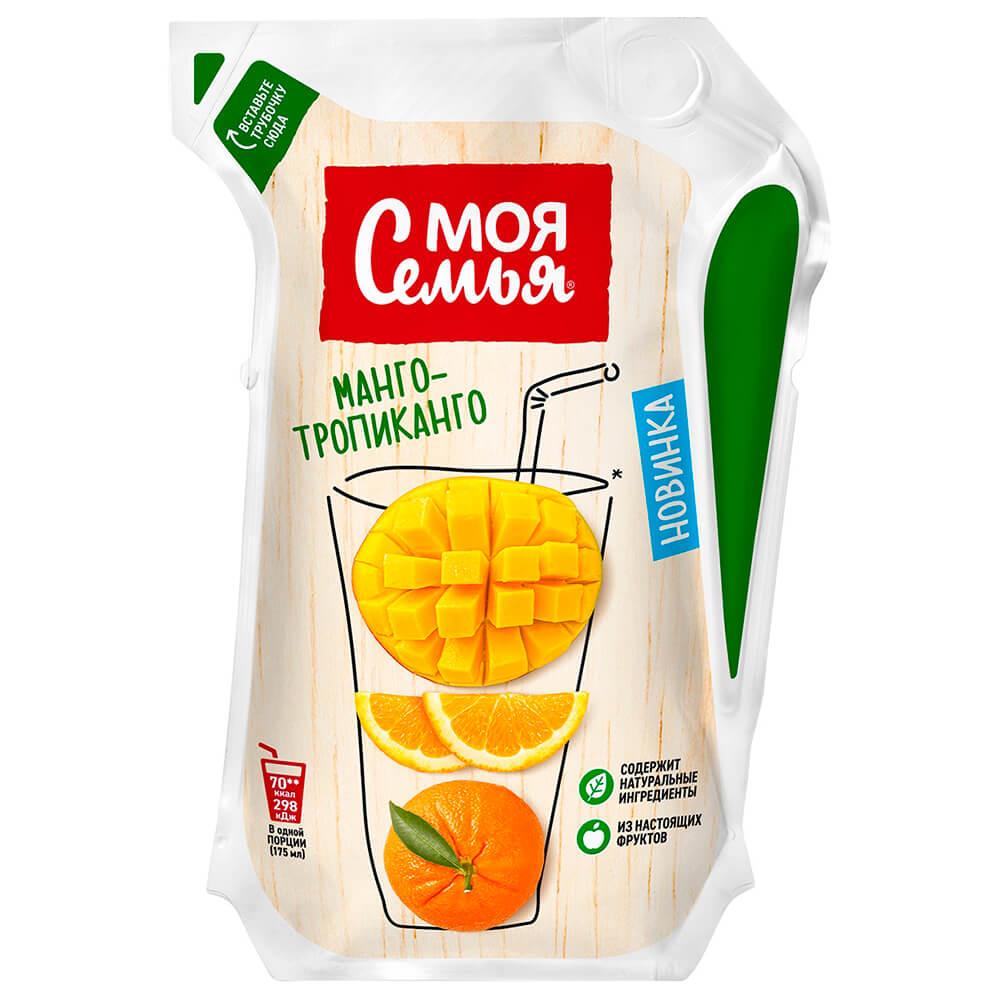 Напиток сокосодержащий Моя семья 0,175л манго - тропиканго эколин