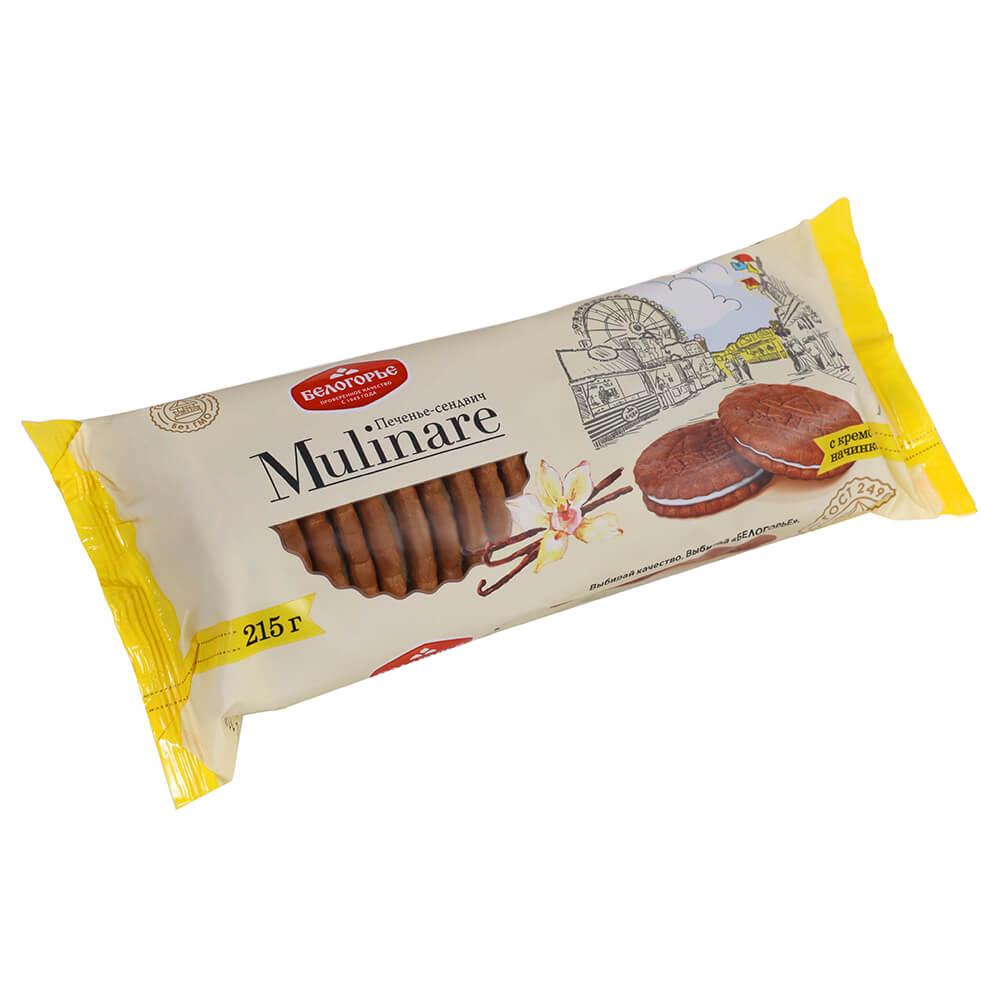 Печенье мулинаре с кремовой начинкой белогорь е