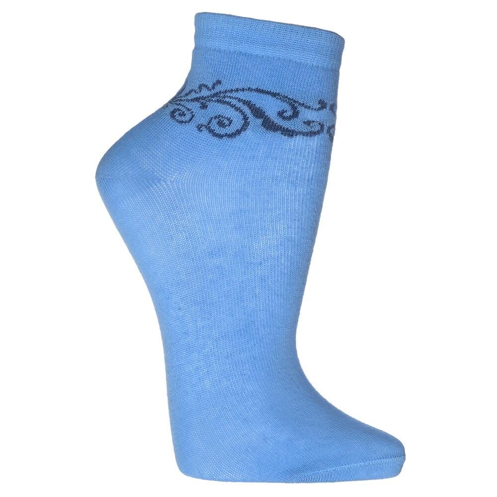 Носки женские Гамма с круговым компьютерным рисунком р.23-25 голубой с573